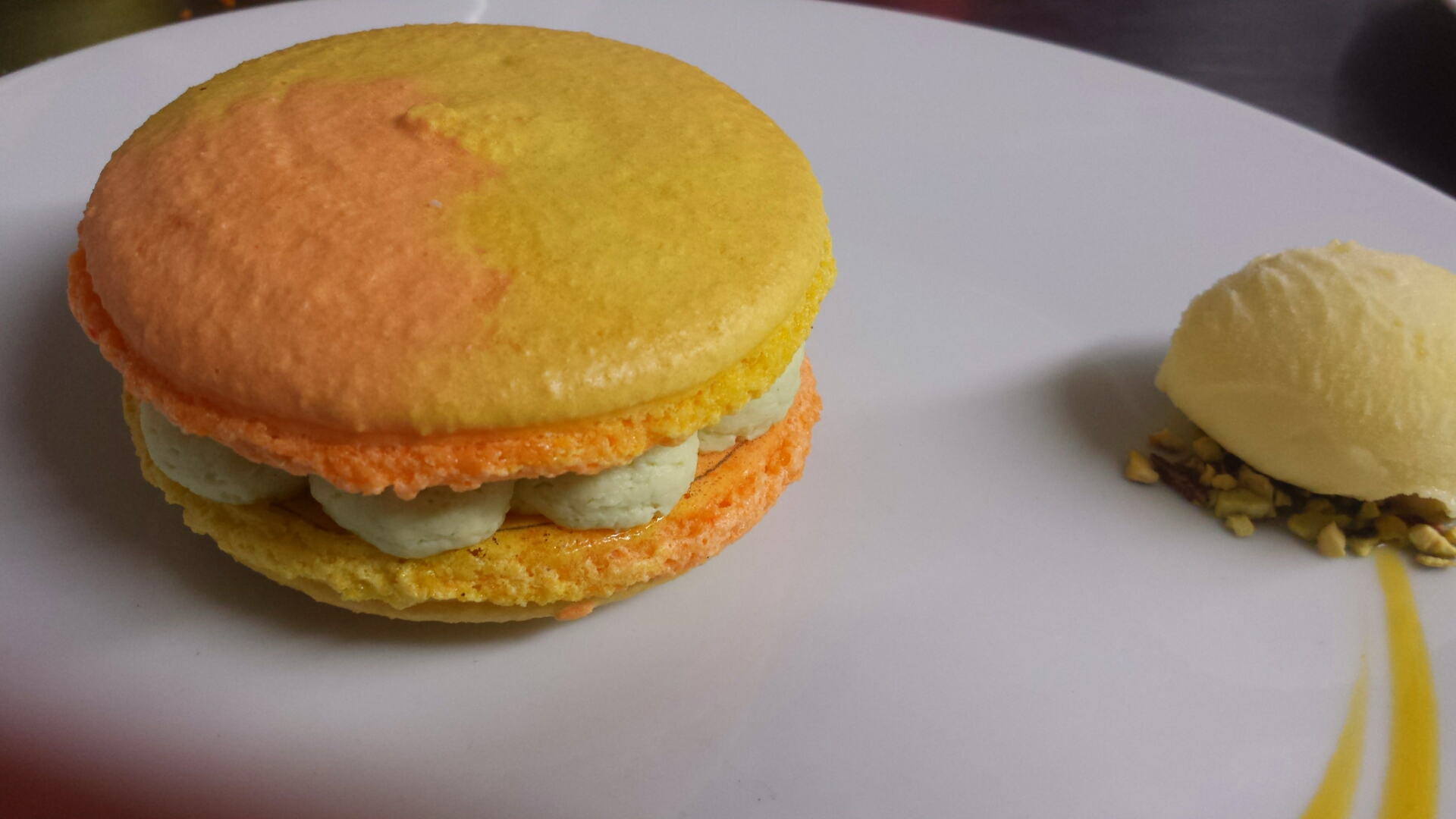 macaron mangue coriandre